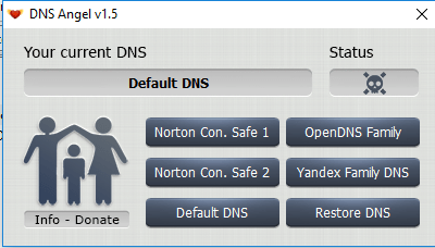 2 - Enable Family Protection In Windows 10 Using DNS Angel