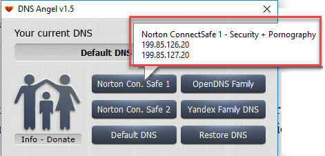 6 - Enable Family Protection In Windows 10 Using DNS Angel