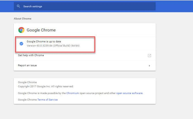 Up to Date with Chrome 64 offline installer