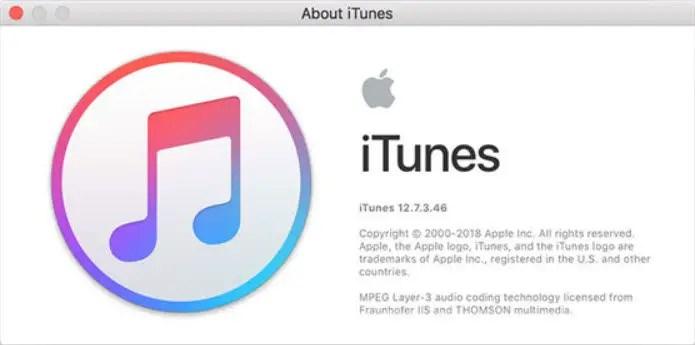 itunes 12.7.3 mac