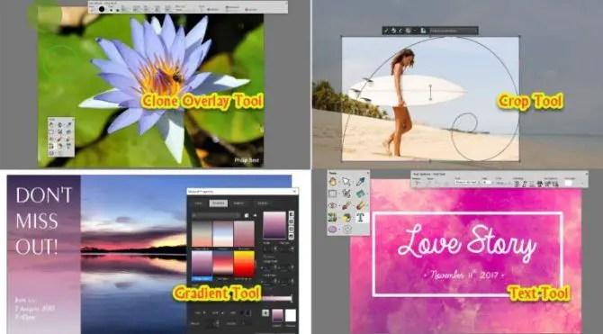 Enhanced tools in PaintShop Pro 2018