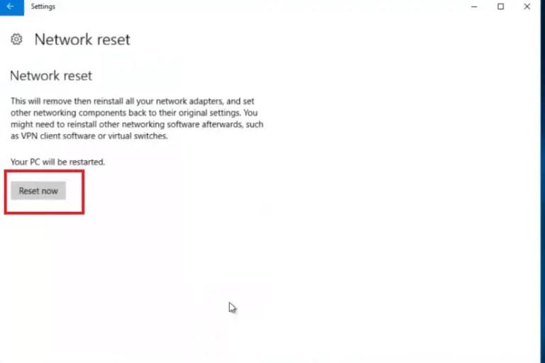 reset network adapter windows 10 cmd