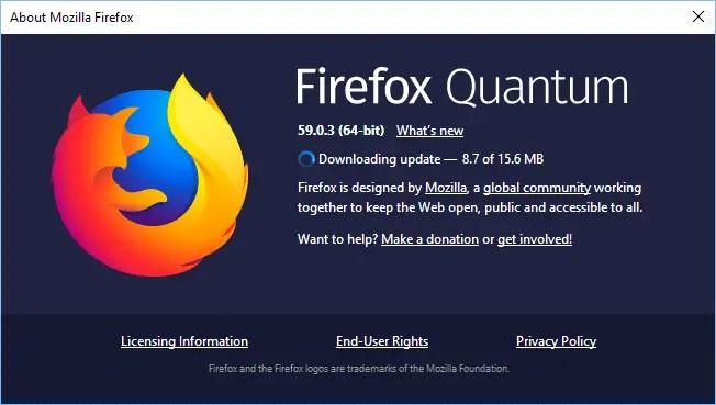 Firefox 60 downloading