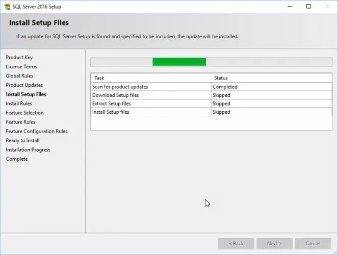SQL Server 2016 Service Pack 2 Setup