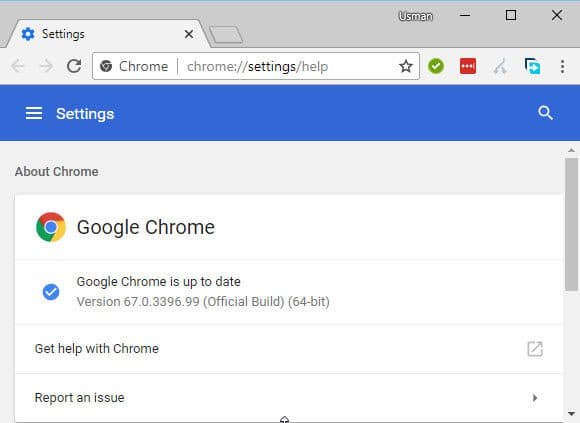 Google Chrome 67
