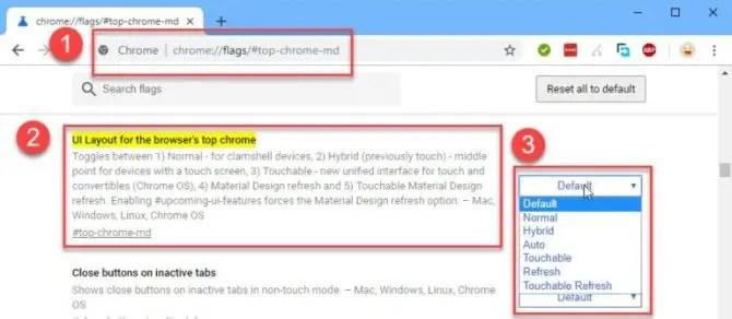 Material Design Refresh for Chrome 69
