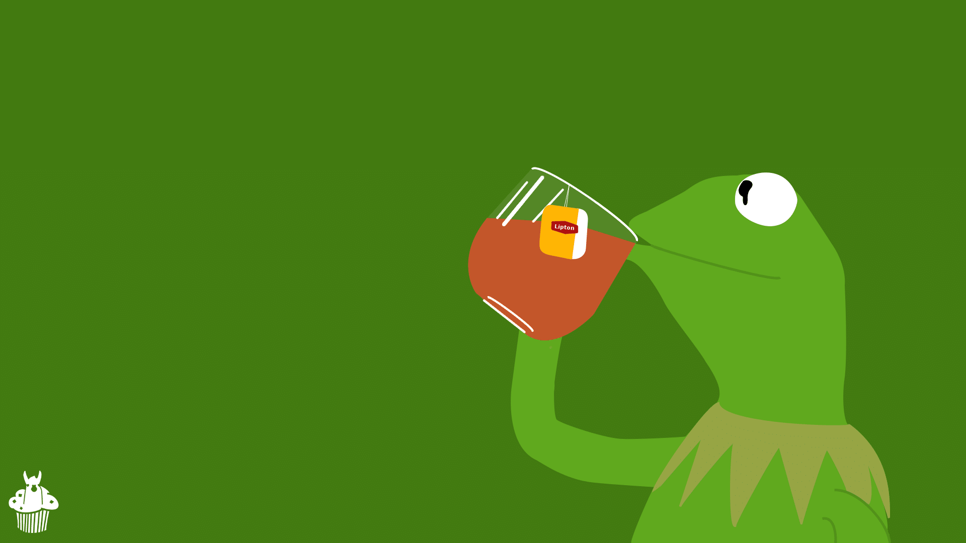 kermit de frog here wallpaper by llamamoofin d96slva