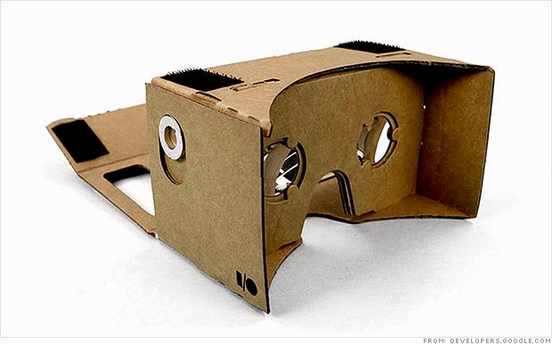 Google Cardboard, A Weird VR Headset Made With A Cardboard !