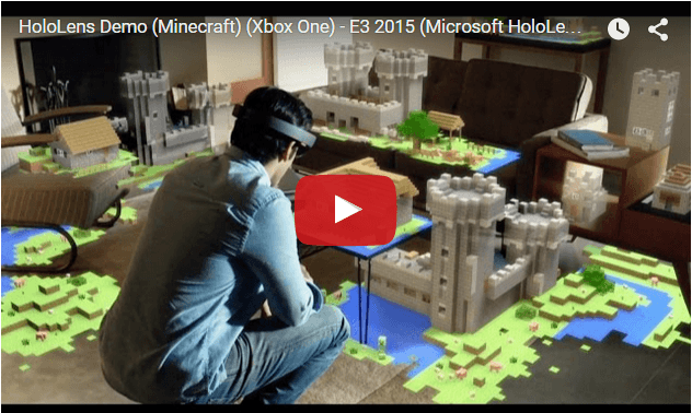 MineCraft Demo With Microsoft Hololens