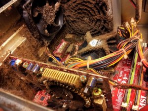 Dirty insides of a computer
