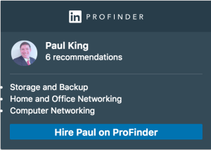 Paul King, LinkedIn ProFinder Badge