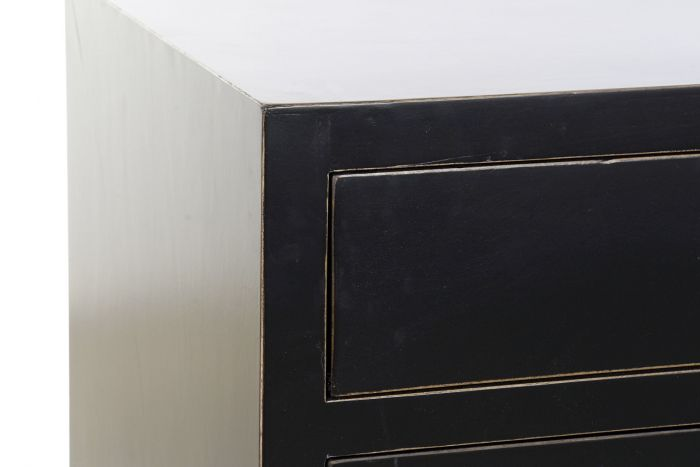 Commode Peuplier Matal 150x50x80 42 Laque Noir