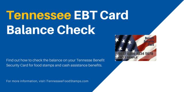 Tennessee EBT Card Balance Check