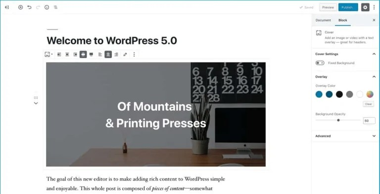 "WordPress 5.0 ""Bebo"" met Gutenberg"