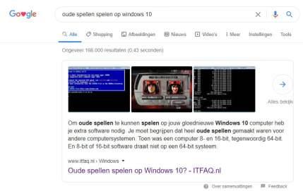 Oude spellen spelen op Windows 10