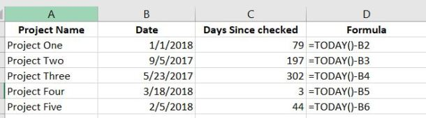 Excel Date Calculations