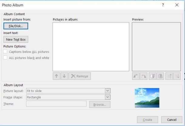 Choose photos for slide show