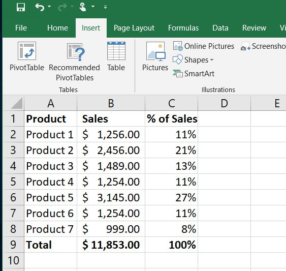 dual axis sample data