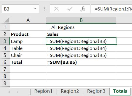Excel 3D Reference Sum Total