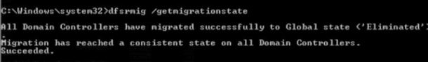 dfsrmig /getmigrationstate