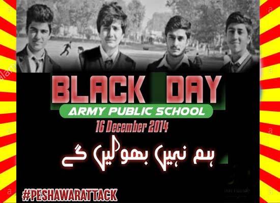 Army Public School 16 December 2014 Black Day History