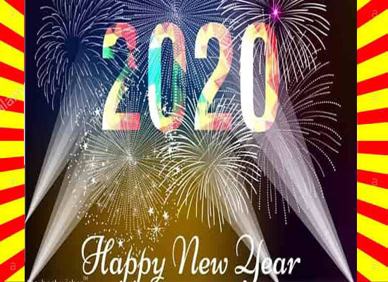 Happy New Year 2020 Wishes Card Download
