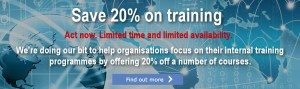 Save 20% on selected IT Governance training courses