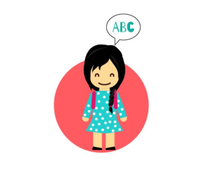 Dibujo de persona con un globo de diálogo.