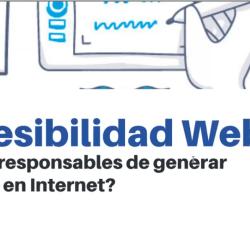 ¿Somos responsables de generar barreras en Internet? Captura de la diapositiva mostrada en Zoom.