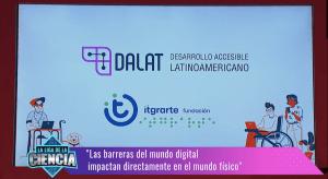 Captura aparición de itgrarte y DALAT en la TV Pública