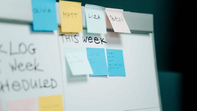 Pizarra de tareas utilizando metodologias ágiles