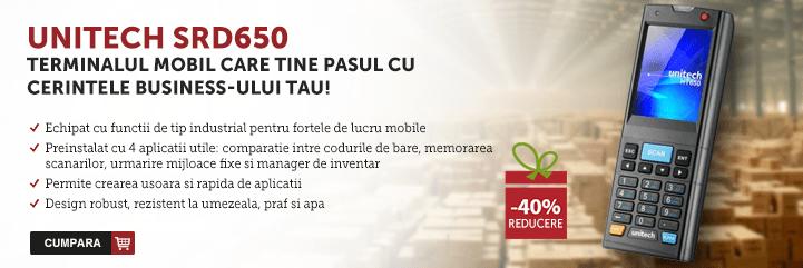 Unitech SRD650 - terminalul mobil care tine pasul cu business-ul tau!