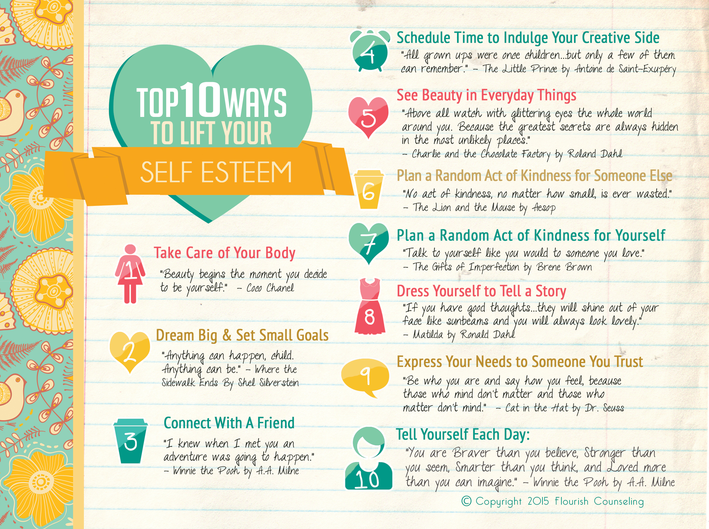 Top Ten Ways To Boost Your Self Esteem