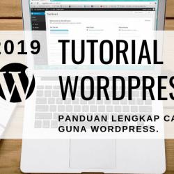 tutorial wordpress lengkap versi 2019