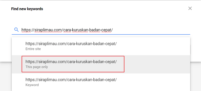 carian url find new keywords