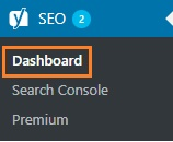 dashboard pada yoast seo menu