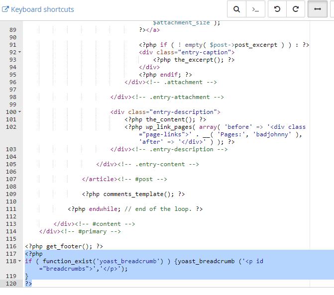 ubah fail header guna file manager cpanel