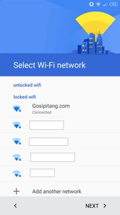 android restore sambung wifi