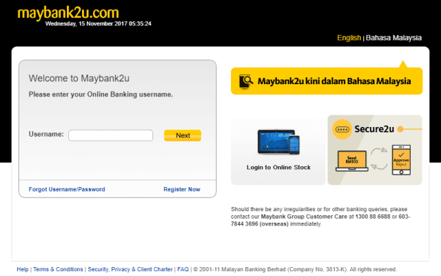 log masuk maybank2u
