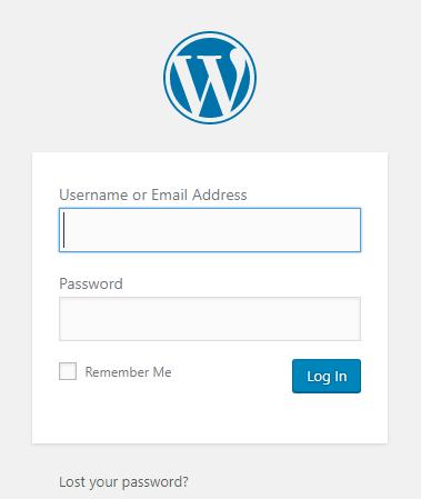 log masuk wordpress