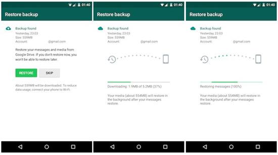 cara restore semula whatsapp selepas format handphone