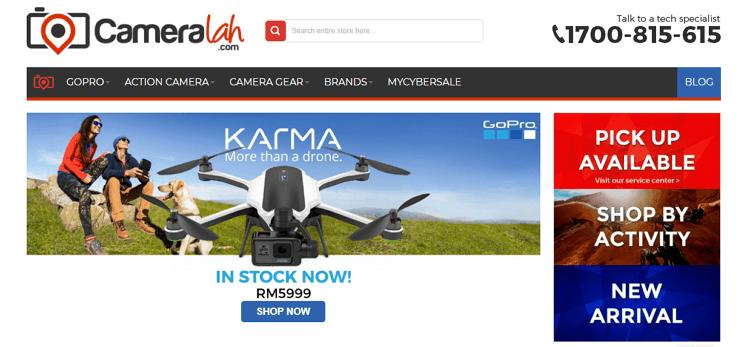 cameralah.com laman web online shopping untuk produk fotografi