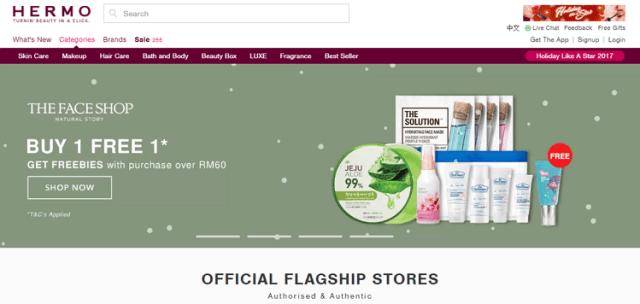 hermo laman web online shopping malaysia
