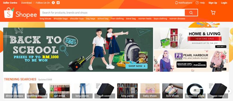 shopee malaysia laman web online shopping malaysia