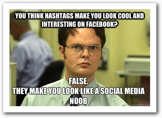 guna hashtag dalam fb
