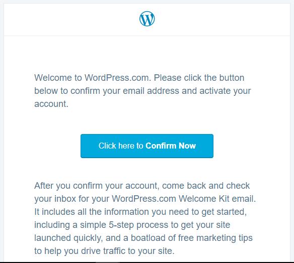 aktifkan akaun wordpress