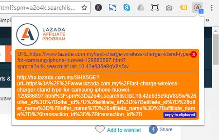paparan link affiliate lazada
