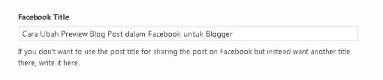Tajuk post untuk facebook share