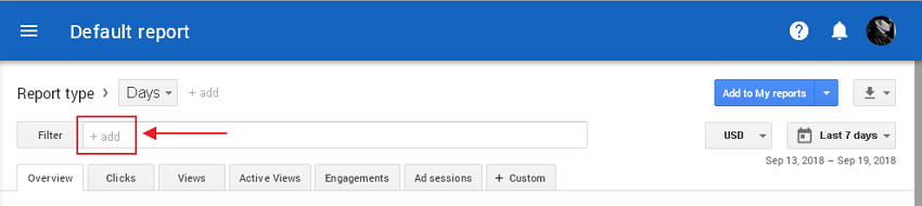 adsense report filter
