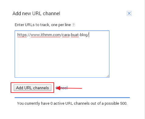 klik add url channel